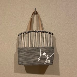 Ellen Degeneres Joy Fabric & Leather Henlee Tote